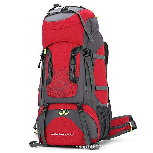 Mochila de senderismo, mochila de senderismo 70L, mochila de senderismo impermeable de gran capacidad, con funda para lluvia, hombres y mujeres, mochila de viaje, deportes al aire libre para acampar,C