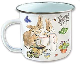 Peter Rabbit Enamel Mug, ys/m, White