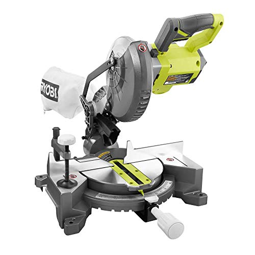 RYOBI 18-Volt ONE+ Cordless 7-1/4 in. Compound Miter Saw (Tool Only) with...