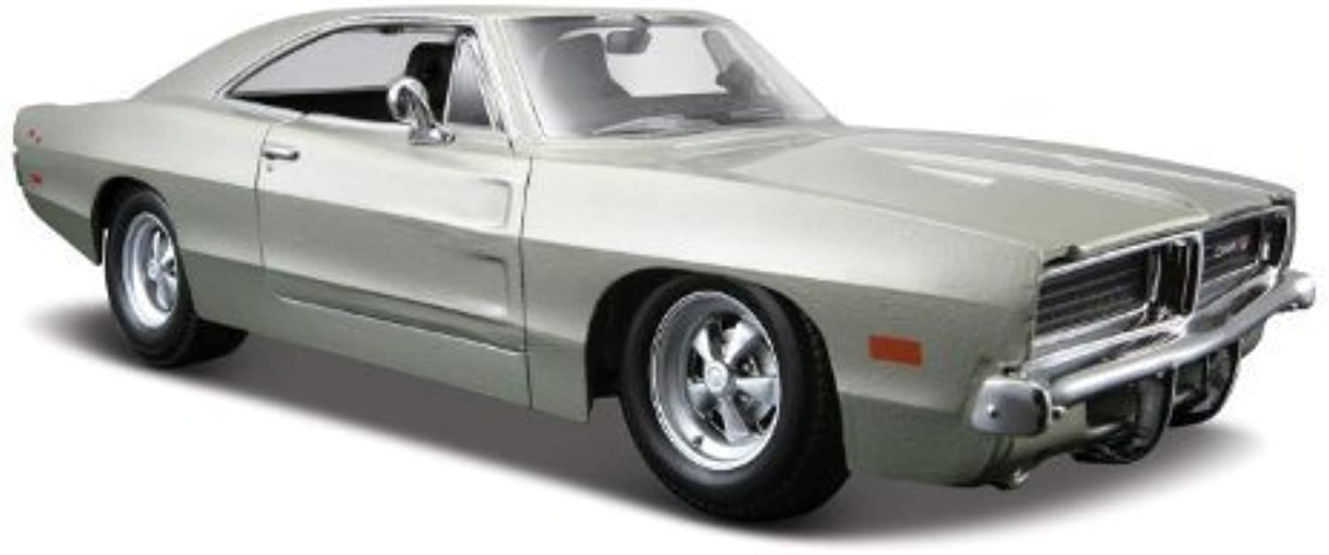 Maisto Die Cast 1 24 Scale Silver 1969 Dodge Charger R T