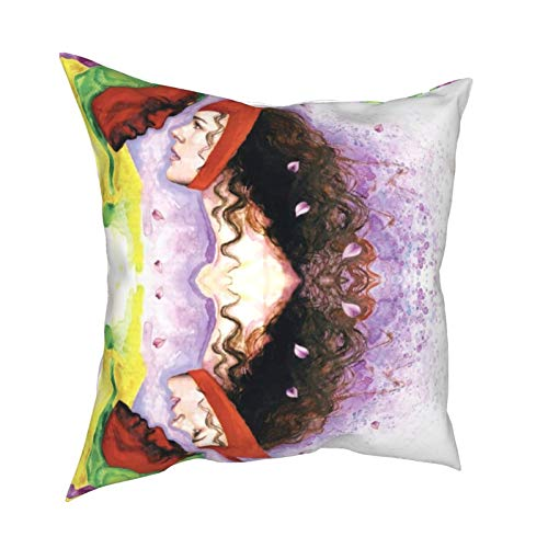 Wan-da-Vis-ion Darcy Lewis 50er Jahre TV-Show-Artikel Legenden Figuren Detektiv Throw Kissenbezug Schlafzimmer Sofa Set Dinge mit wasserdicht 50,8 x 50,8 cm