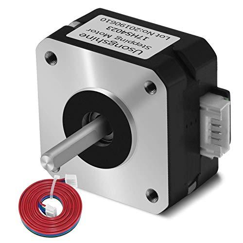 Usongshine Nema 17 Stepper Motor Bipolar Step Motor for Titan Extruder 3D Printer 4.1V 1A 13Ncm (18.4oz.in) 4 Lead 1.8 Deg with 1m Cable (17HS4023 Pack of 1)