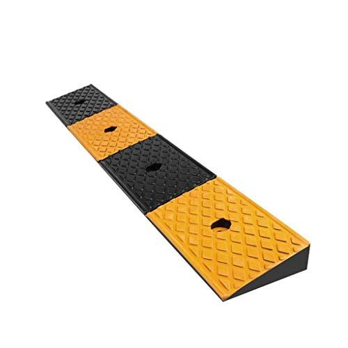 Gjrff Auto Curb Ramps, Leichtbautür Rampe Schwelle Rampen for Rollstühle, Autos Fahrzeuge, Wohnwagen, Roller Räder, Skateboard, Motorrad, Behindertenstuhl 100x15x5cm