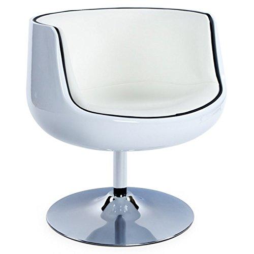 MK Fauteuil Design TARN en ABS (polymère à Haute résistance) (Blanc)