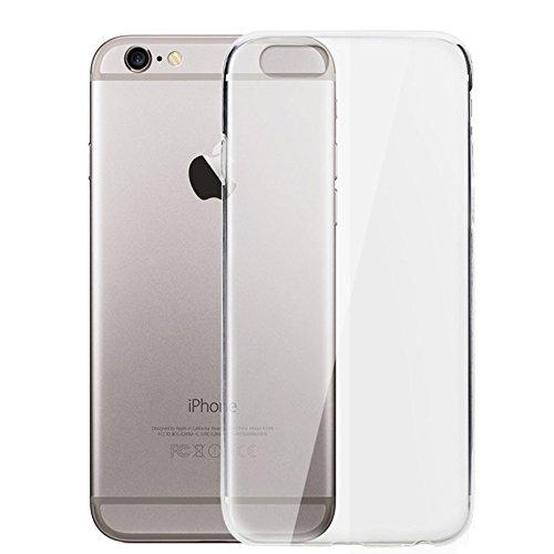 REY Funda Carcasa Gel Transparente para iPhone 6 Plus y 6S Plus Ultra Fina 0,33mm, TPU de Alta Resistencia y Flexibilidad