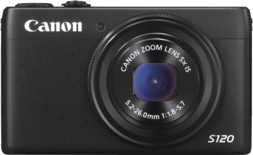 Canon PowerShot S120 Digitalkamera (12,1 MP, 5-Fach Opt. Zoom, 7,6cm (3 Zoll) LCD-Display) schwarz