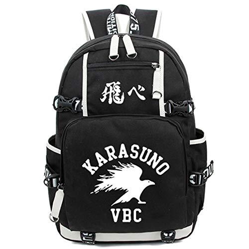 YGGY Anime Karasuno Mochila Nylon Estudiante Mochila Unisex Bolsas de Viaje Moda Viaje Laptop Shoulders Bag, 1