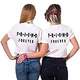 Daisy for U Dos Damas Mejores Amigas Hermanas Camisetas Tops Divertidos Tops de Verano BFF Regalo de cumpleaños 1 Pieza Que simboliza la Amistad