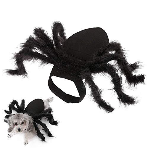 Traje de Halloween for mascotas gigante simulacin araa for perros pequeos y gatos cachorros cosplay Viste traje de miedo la Tarntula con capucha decoracin de los accesorios ZZAY ( Color : Dog )