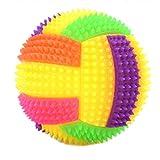 Bola de Voleibol Hinchable Intermitente YUIO Luz LED Erizo rebotando Juguetes para Masticar Perros (Multicolor)