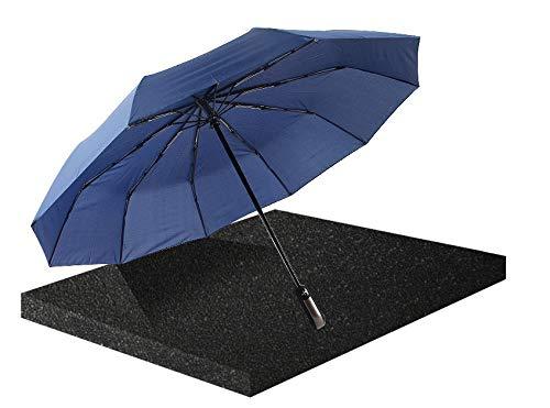 Paraguas de apertura y cierre automático plegable resistente al viento, gran apertura y cortavientos para hombres y mujeres