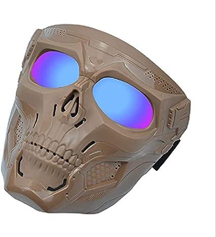 N\C Máscara De Pistola De Aire Ajustable, Máscara De Calavera De Halloween, Gafas Y Otras Máscaras Tácticas para Exteriores