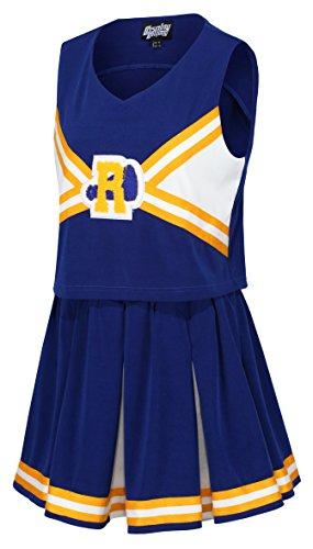 The Cosplay Company High School Cheerleader Uniform - Blau - US 10