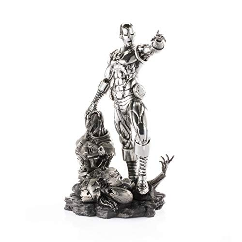 Royal Selangor Hand Finished Marvel Collection Pewter Limited Edition Iron Man & Ultron Replica Gift image