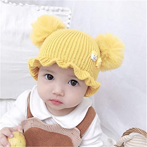 Lging Sombrero Plegable del bebé 3-18 Meses Niños bebé Gorro de Lana...