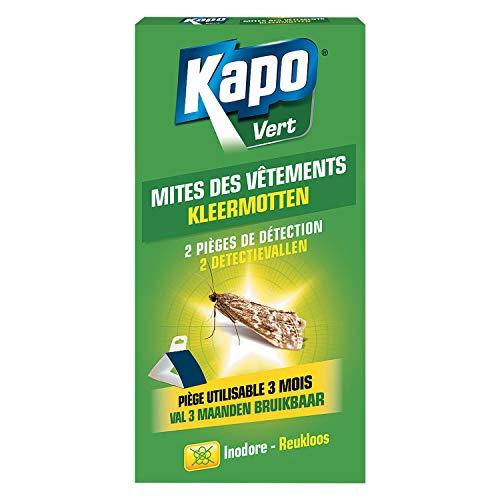 KAPO - Piège à mites des vêtements, boite de 2 pièces