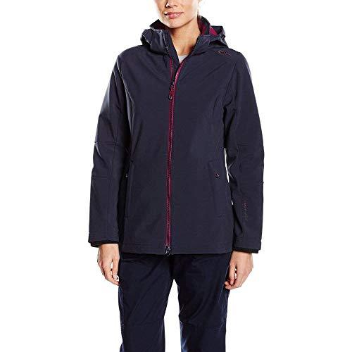 Campagnolo CMP Damen Softshell Jacke Alle Größen Übergrößen Kurzgrößen, darknavy/Berry, 50