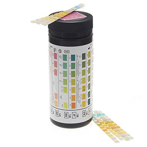 Harnanalyse Urin Teststreifen 11 Werte: PH-Wert, Glucose, Blut, Ascorbinsäure, Keton, Nitrit, Protein, Bilirubin, Leucozyten