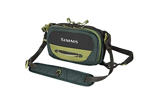Simms Freestone Fishing Chest Pack, Water Resistant Outdoor Chest Bag with Pockets, Shadow Green