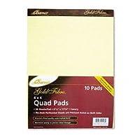 Ampad ®ゴールドファイバ・®カナリアquadrilleパッドパッド、クアッド、4sq、8.5X 11can w55090(パックof20)
