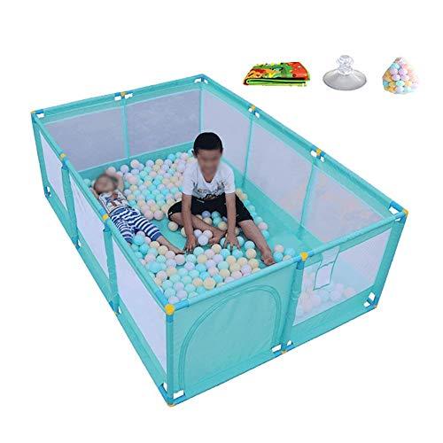WEHOLY Baby Laufstall mit Bällen und Matratze, faltbar, tragbar, Spielstall für unterwegs