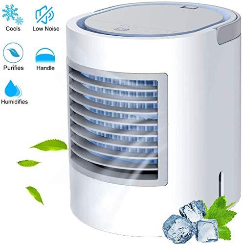 luci notturne per casa,ufficio SmartDevil Climatizzatore Portatile dispositivo di raffreddamento evaporativo con Vassoio di ghiaccio dispositivo di raffreddamento personale e portatile Bianca