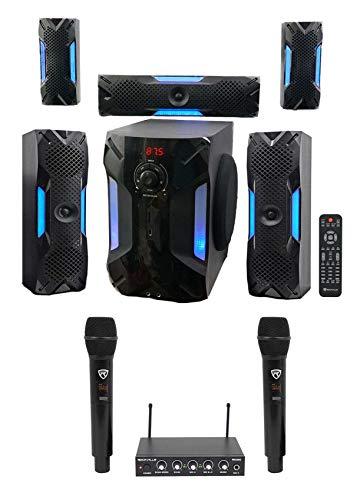 "Rockville Hybrid Home Theater Karaoke Machine System w/8"" Sub+(2) Wireless Mics"