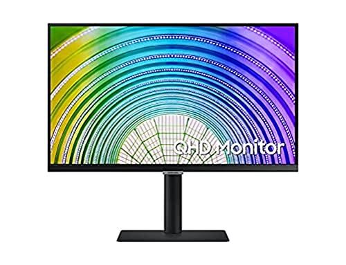 Samsung - Display PC professionale 24 pollici, serie S60UA Nero, Dalle IPS, QHD (2560 x 1440), HDMI, Display Port, Hub USB, USB-C, supporto HAS e funzione girevole.