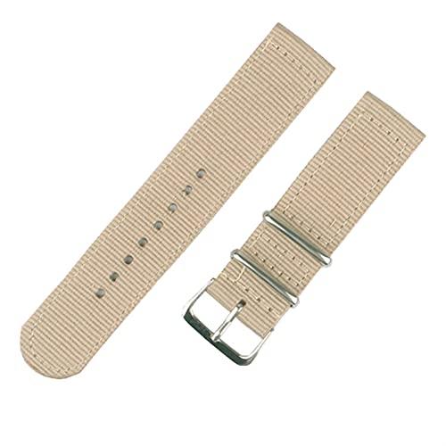 PAZHOU Correa de reloj de 20 mm y 22 mm para Samsung Galaxy Watch 46 mm 42 mm Active2 Active1 Gear S3 Frontier Sports Nylon Nato correa (color de la correa: 14, ancho de la correa: 22 mm)