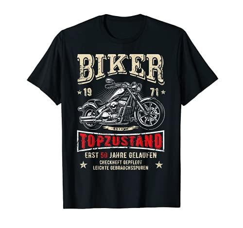 Herren 50. Geburtstag Mann Biker Geschenk witzig Motorrad Legenden T-Shirt