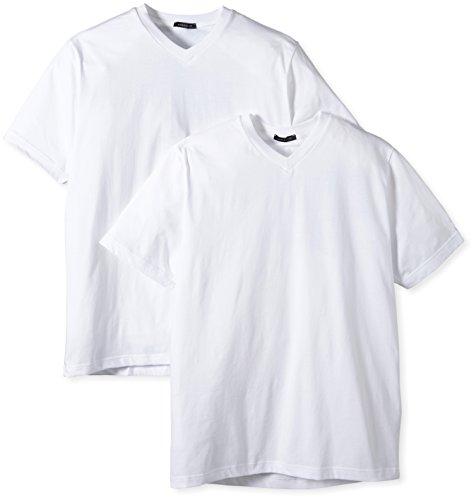 SCHIESSER American T-Shirts V-Neck Shirt im Doppelpack, 100 weiß, 5 = M