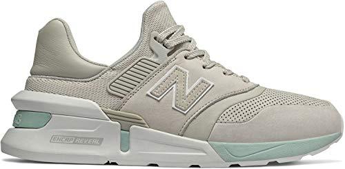 New Balance 997 Zapatillas de Deporte de Ante y Malla en Blanco y Verde Menta