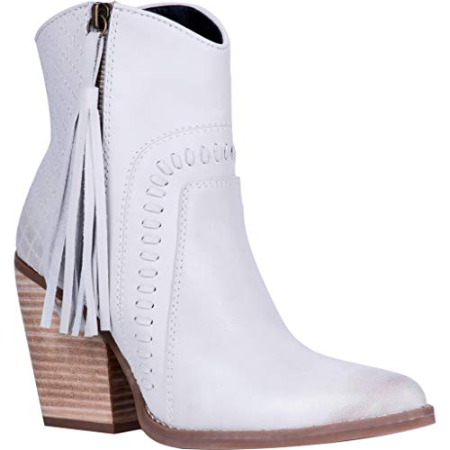 Dingo Womens Dream Big Casual Booties Shoes, Off White, 8.5