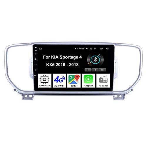 Android 10 9 Inch Pantalla Tactil para Coche Reproductor Car Stereo para KIA Sportage 4 KX5 2016-2018 Radio del Coche Car Player Conecta Y Reproduce Coche Audio USB Mirror Link