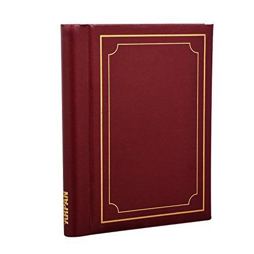 ARPAN Fotoalbum, selbstklebend, gepolstert, spiralgebunden, 36 Blatt, burgunderfarben, 28 x 22 cm