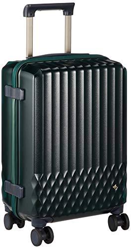 [ハント] スーツケース ソロ 機内持込み可 約1~2泊 32L クリア素材 キャスターストッパー付 ワイヤーコード付 ラゲージカバー付 06556 ダブルホイル 機内持ち込み可 48 cm 3.1kg トルマリングリーン