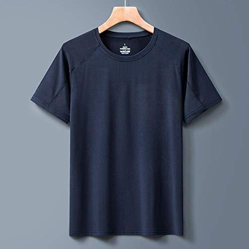 Cxypeng Maillot de Corps Compression,T-Shirt d'extérieur à col Rond à séchage Rapide, Haut à Manches Courtes pour Sports d'été-Bleu AA_5XL,Homme Sportswear Sport Quick Dry