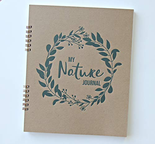 Nature Journal for Kids Sketchbook, 9.25' x 7.25' 90 pgs, Nature Journaling for Kids, Spiral Sketch Book Blank Pages, Sketch Pad for Nature Journaling Supplies, Nature Journal Notebook (Brown)