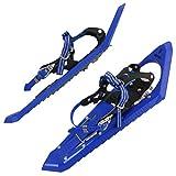 ALPIDEX Raquetas Nieve Ligero Adulto 38-45 Bolsa Transporte Bastones Opcional, Color:Blue sin Bastones
