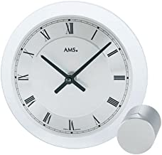 AMS(アムス) 時計 おしゃれ 壁掛け シンプル 丸角 掛け時計 置き時計 166(N)