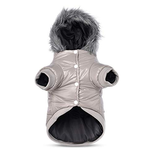 PETCUTE Cappotto Invernale per Cani Giubbotto Abbigliamento per Cani Giacca in Felpa Calda per Cane Impermeabile Tuta Invernale per Cani