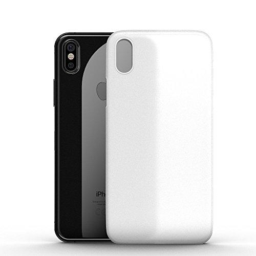 GLAZ Case geeignet für iPhone X hülle in Schnee Weiß, Ultraslim Case, Handyhülle, Durchsichtig, Kratzfest und Stoßfest, kein Fingerabdrücke
