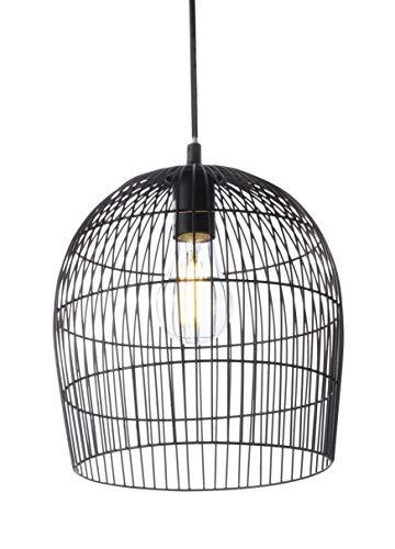 Luminaire Janeiro, suspension métal, 40 W, noir, ø 24,5 x H 27 cm