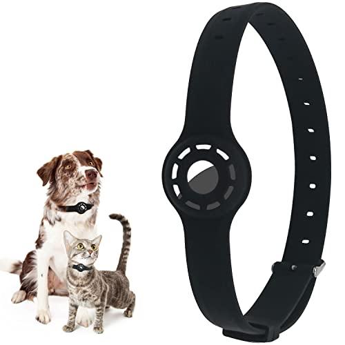 Collier pour chien avec pendentif Airtags - GPS - Pour chien et chat - Longueur réglable de 9,8 à 18,8'