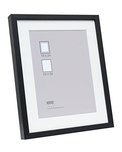 Deknudt Frames S223K2 fotolijsten 50x70 Basic, zwarte hoge houten lijst met Pptt - bestelmassa=lijstmaat houten fotolijst