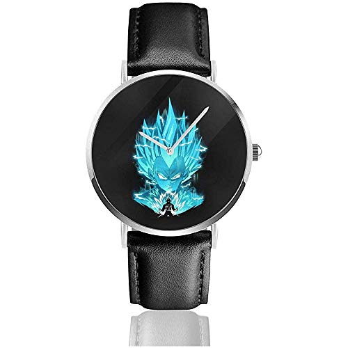 Unisex Business Casual Z Vegeta Electric Uhren Quarz Leder Uhr
