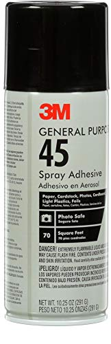 3M General Purpose 45 Spray Adhesive, 10-1/4-Ounce, White
