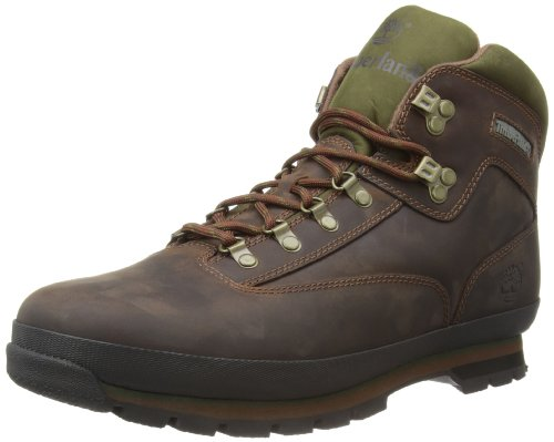 Timberland Euro Leather Hiker, Botas Hombre, Marrón MD Brown Full Grain, 43 EU