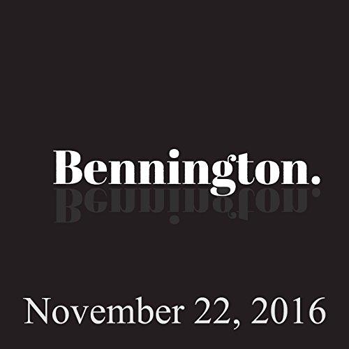 Bennington, November 22, 2016 audiobook cover art