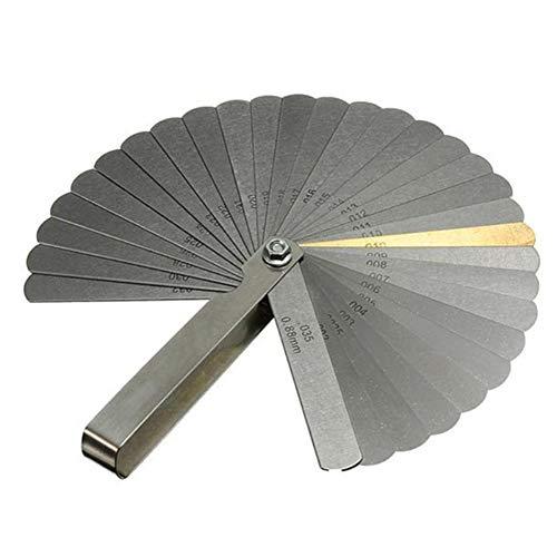 BAWAQAF Fühlerlehre, 32 Stück, Dickenlehre, Fühlerlehre, bewegliches Edelstahl-Messgerät mit Einer Dicke von 0,04 bis 0,88 mm